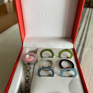 NEW IN BOX COACH STAINLESS STEEL BRACELET